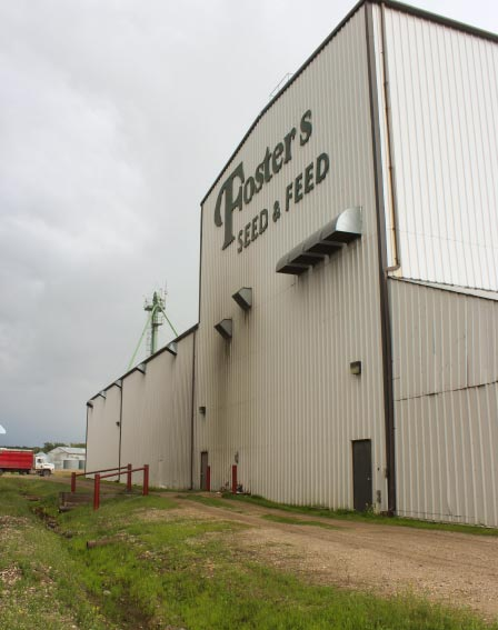 Foster's Seed & Feed Building in Beaverlodge, AB