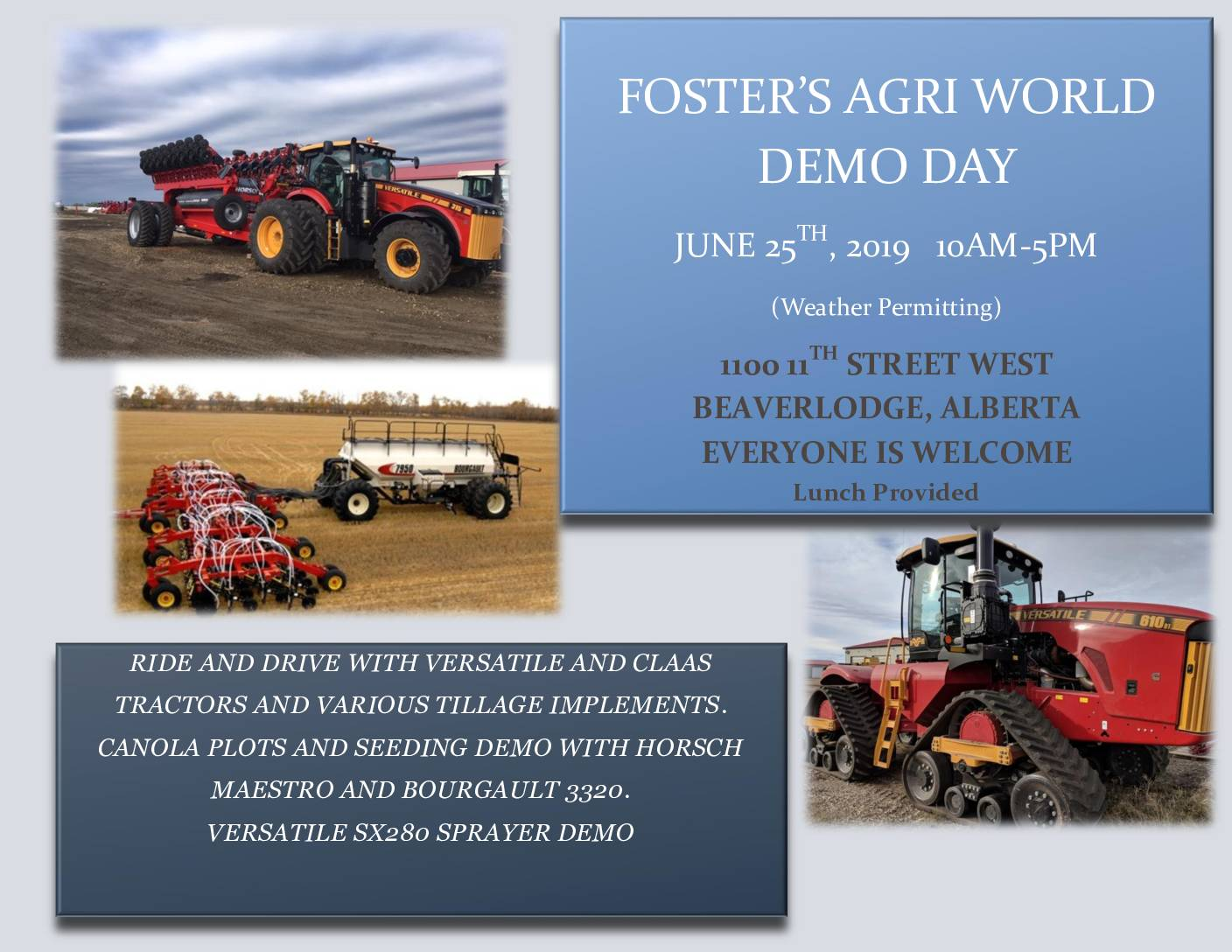 Foster's Agri World – Demo Day 2019