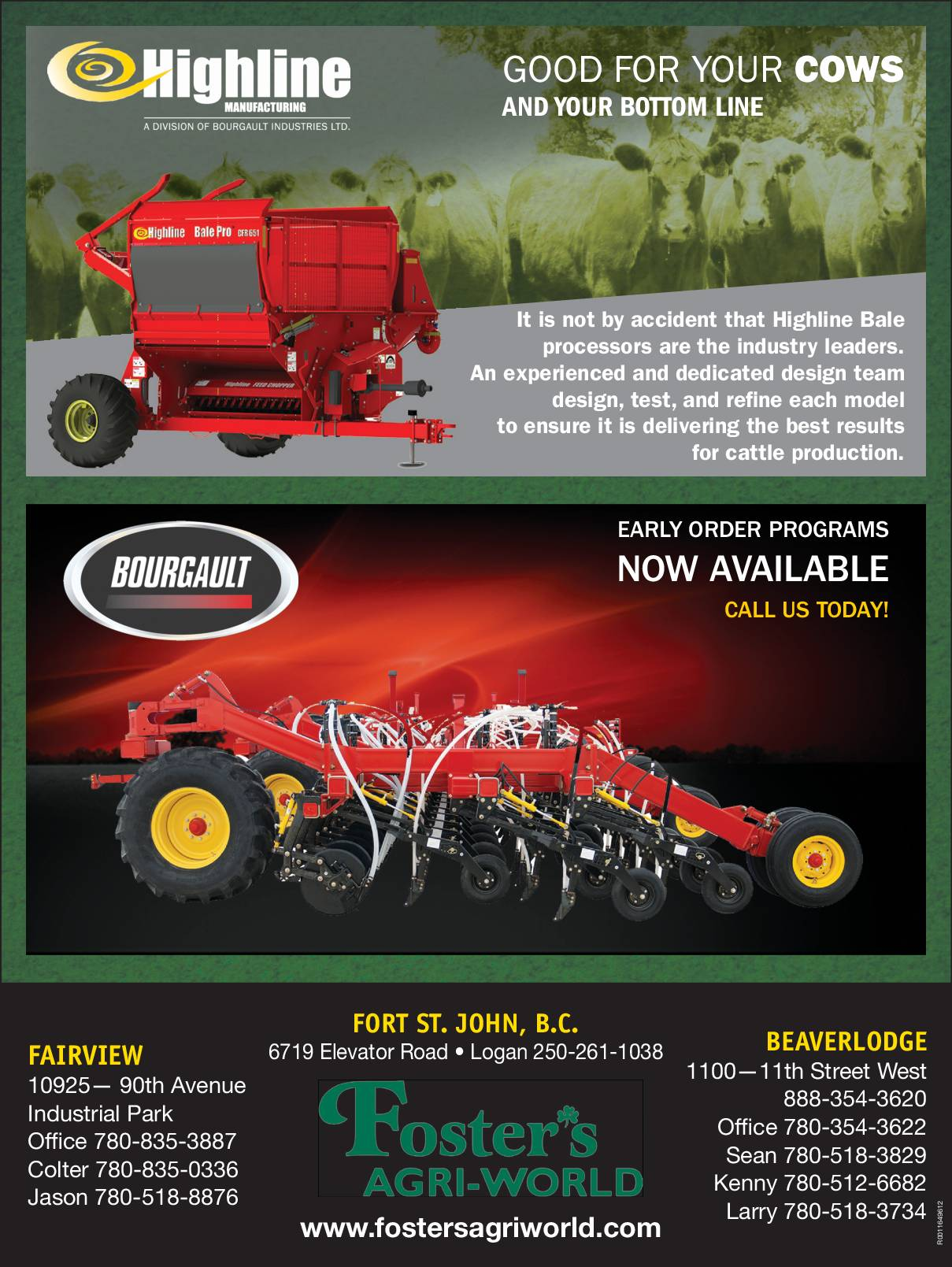Highline and Bourgault Promotions