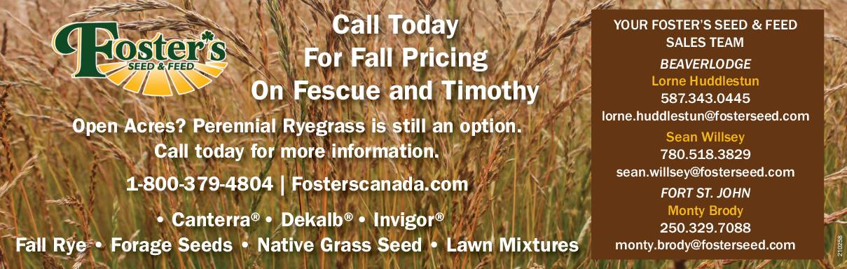 Call Today for Fall Pricing on Fescue & Timothy!