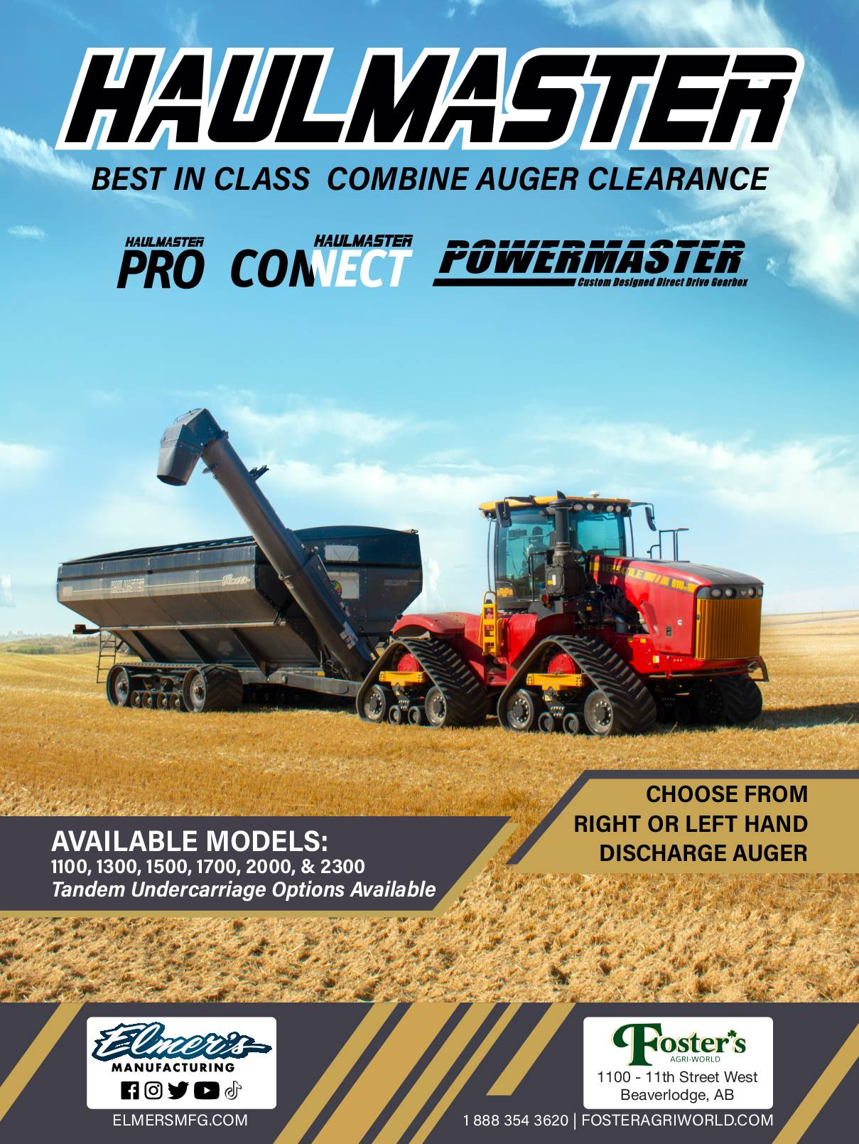 Best in Class Combine Auger Clearance