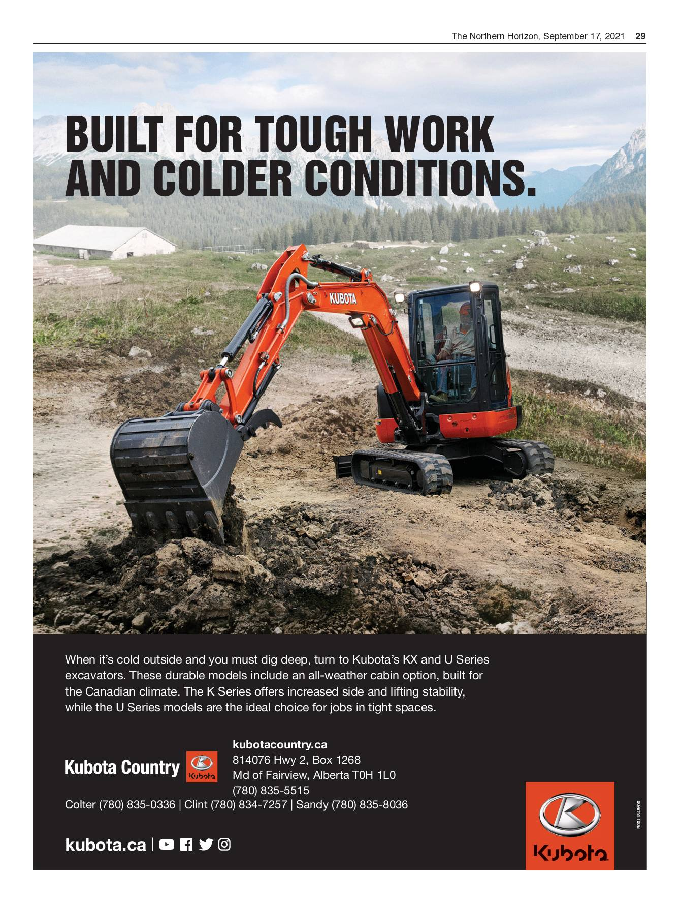 Built for Tough Work and Colder Conditions
